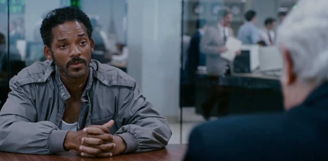 the pursuit of happyness about sales