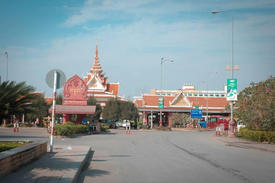 Cửa khẩu Bavet bên phía Campuchia
